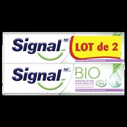 Dentifrice bio protection naturelle SIGNAL, 2 tubes de 75ml