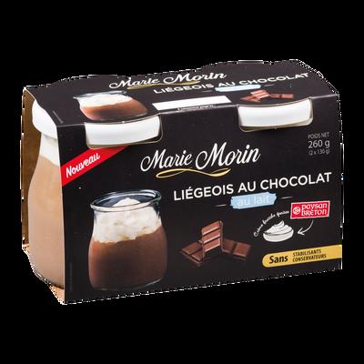 Liégeois chocolat au lait MARIE MORIN, 2x130g
