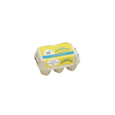 Oeufs de poules élevées au sol moyen OEUF COMTOIS, x6