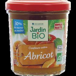 Confiture abricots allégée en sucre bio JARDIN BIO 320g