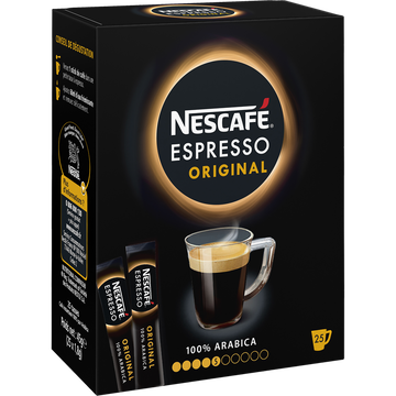 Nescafé Café Soluble Espresso Nescafe, 25 Sticks, 45g