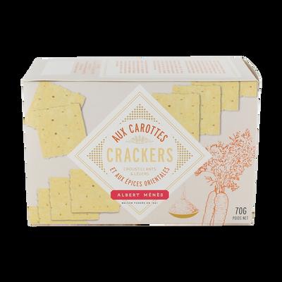 Crackers aux carottes et aux épices orientales ALBERT MENES,70g