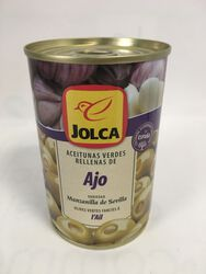 Jolca - Olives Vertes farcies à l'Ail - 300G