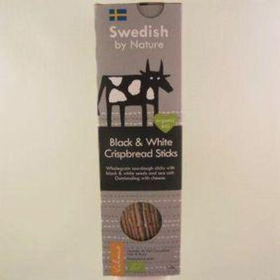 Lamelles de pain croustillant noir&blanc SWEDISH BY NATURE ,120g