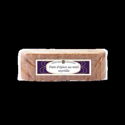 Pain d'épices myrtille tranché RUCHERS BOURGOGNE, 300g