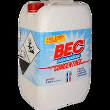 Chlore actif extrait de javel 9,6% BEC bidon de 20 litres