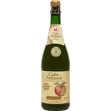 Cidre artisanal Traditionnel U, 5° 75cl
