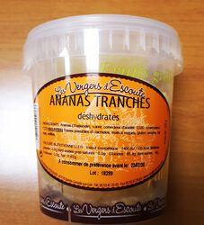 ananas tranchés déshydratés 350g