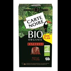 CARTE NOIRE ESPRESSO BIO, x10 soit 53g
