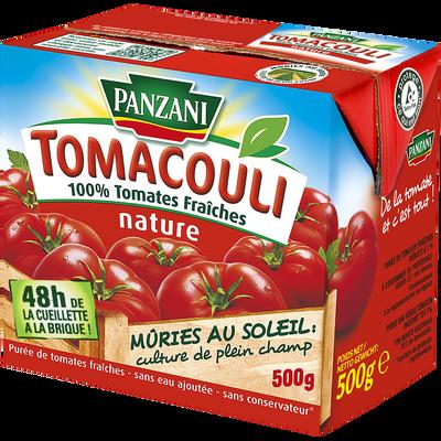 Sauce nature tomacouli PANZANI, brique de 500g