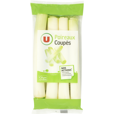 Poireau coupé, U, France, sachet 500g