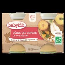 Pot délice de fruits BABYBIO, dè s6 mois, 2x130g