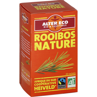 Thé rouge rooibos bio ALTER ECO, 20 infusettes, 40g