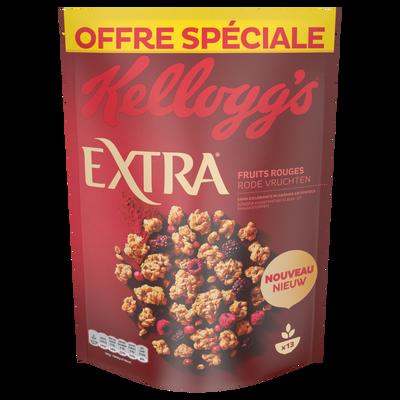 Céréales pépites 4 fruits rouges  Kellogg's EXTRA, paquet de 600g
