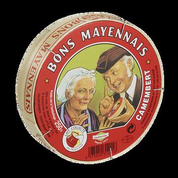 Bons Mayennais Camembert Au Lait Pasteurisé Bons Mayennais, 22%mg, 250g