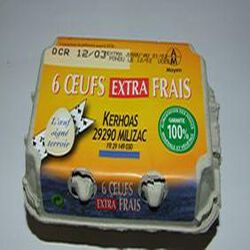 6 oeufs extra frais moyens KERHOAS