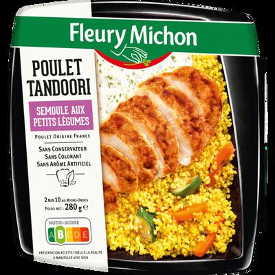 Poulet tandoori semoule aux petits légumes FLEURY MICHON, 280g