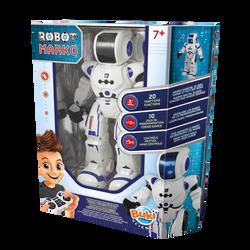 Découvre Marko le robot BUKI 20 fonctions étonnantes:marche, sons et musiques,danse,émotions.Télécommande infrarouge ,10jeux pour s'initierau codage,2 piles LR06 non incluses