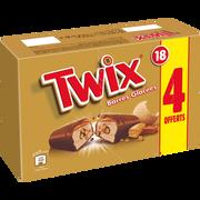 Twix Twix Glace, Caramel Et Éclats De Biscuit, Enrobage Cacao - X18 Dt 4 Offerts - 616g