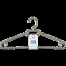 Cintres ergonomiques avec crans anti glisse U, en plastique, 5 unités