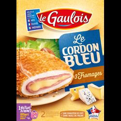 Cordon bleu de poulet 3 fromages, LE GAULOIS, 2 pièces, 200g