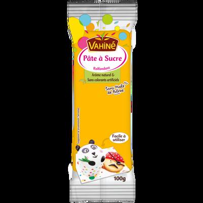 Pâte à sucre jaune VAHINE, sachet de 100g