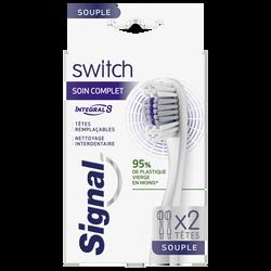 Brosse à dents integral 8 complet soft SIGNAL, x2