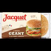 Jacquet Pain Complet À Hamburger Géants Jacquet, X4 Soit 330g