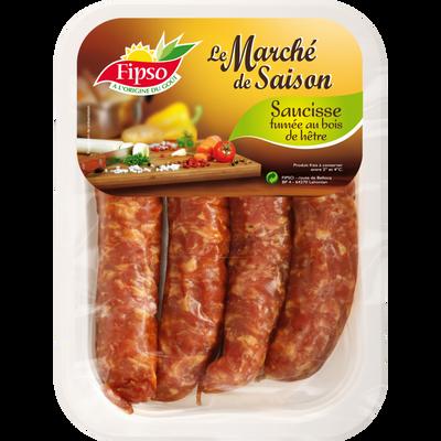 Saucisse fumée, France, 4 pièces, barquette 360g