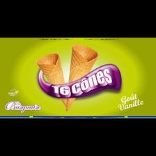 Cones goût vanille LA BASQUAISE, x16 paquet de 175g