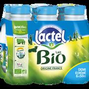 Lactel Lait Demi Écrémé Uht Bio Lactel, 6x50cl