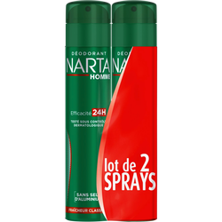 Déodorant homme classique fraîcheur NARTA, 2x200ml