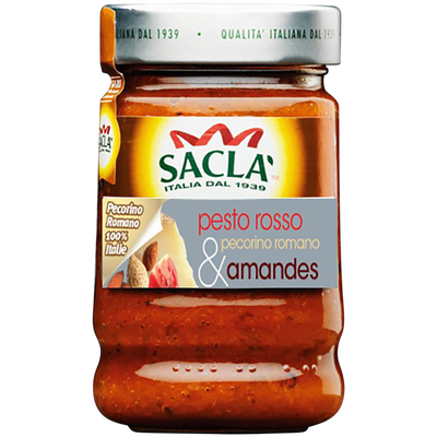 Sauce pesto rosso pecorino romano et amandes SACLA, 190g