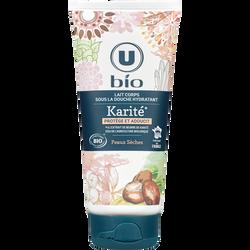 Lait pour le corps sous la douche hydratant au karité U BIO, tube de 200ml