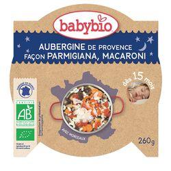 Ass Bonne nuit Aubergines façon Parmigiana & Macaroni Biologique BABYBIO dès 15 Mois 260g