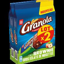 LU Brownie Gros Éclats De Noisettes Granola Lu Paquet X2 360g