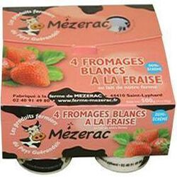 FROMAGE BLANC FRAISE 4X125G MEZERAC