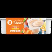 Mix Yaourt Brassé Mix Sucré À La Pulpe De Fruits Jaunes U, 8 Pots X125g