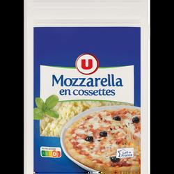 Mozzarella lait pasteurisé 22%mg U cossettes 150g