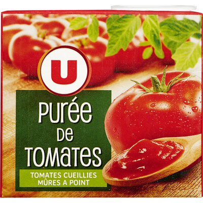 Purée de tomate U, brique de 500g