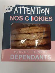 cookies pralines roses  X5 PIERRE ET TIM fabriqués  A VERSAILLES, origine  FRANCE 100% ARTISANAUX 300G