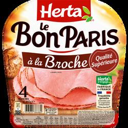 Jambon Paris broche HERTA, 4 tranches, 140g