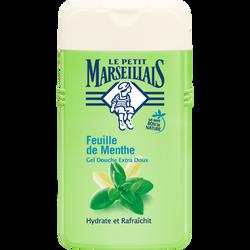 Douche extra doux feuilles de menthe PETIT MARSEILLAIS, flacon de 250ml