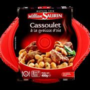 William Saurin Cocottes Cassoulet À La Graisse D'oie William Saurin, Barquette Micro-ondable De 400g