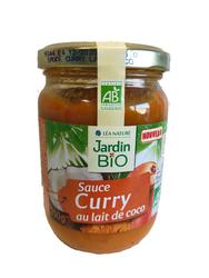 Sauce curry au lait de coco JARDIN BIO 250g