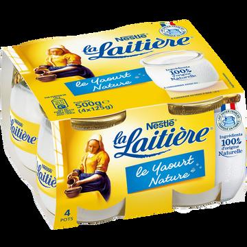 Nestlé Yaourts Natures Au Lait Entier La Laitiere, 4x125g