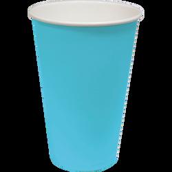 Gobelet, en carton, 36cl, turquoise, 10 unités