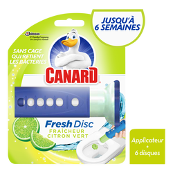 Kit citron vert blister CANARD Fresh Disc, 1 applicateur + 6 disques