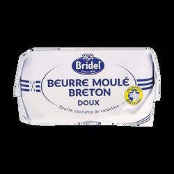 Beurre breton moulé doux pasteurisé 82%mg BRIDEL 250g