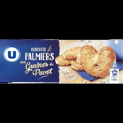 Palmiers au pavot U, paquet de 100g
